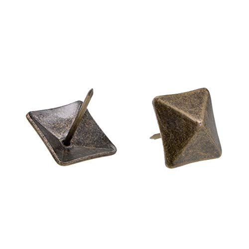 (uxcell Upholstery Nails Tacks 18mm Square Head Antique Furniture Nails Pins Bronze Tone 15 Pcs)