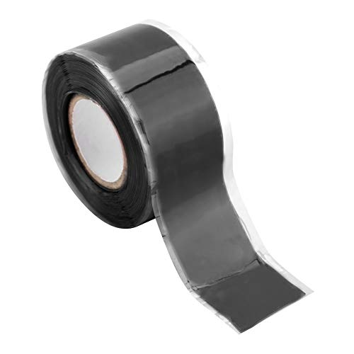 Garosa Self-Fusing Silicone Rubber Insulated Tape Rectangular Waterproof Sealing Tape for Outdoor Antenna Coax & Electrical Cables Hose/Pipe Leaks & Emergency Repairs(Black)