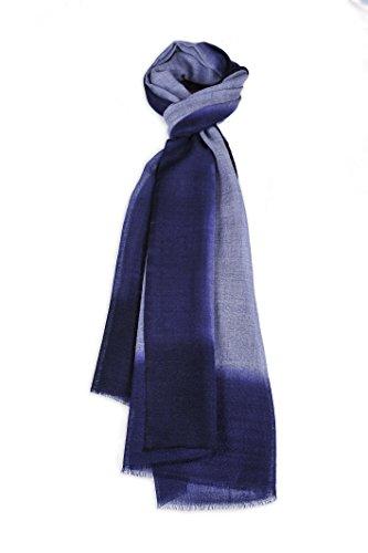 Zentopia cashmere blend handmade hand dye scarf ink style ultra light weight (Dark Purple) by Zentopia