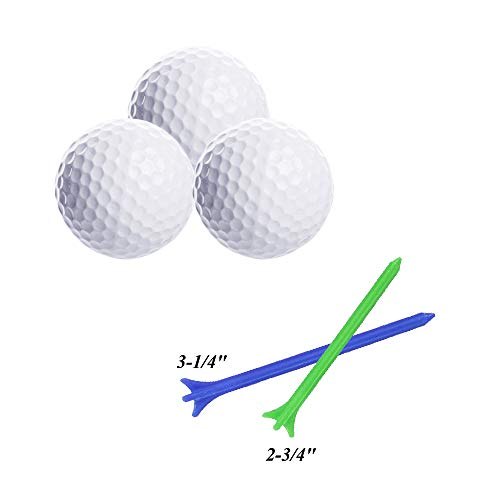Glow Golf Balls, ZLIXING Led Golf Balls Novelty Golf Ball Funny Golf Ball Colored Golf Balls, Light up Golf Balls Professional Practice Golf Balls Glow in Dark for Night Sports (3 Pices) by ZLIXING (Image #1)