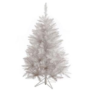 Vickerman Sparkle - Vickerman Sparkle White Spruce Tree with 421 Tips, 4.5-Feet by 36-Inch