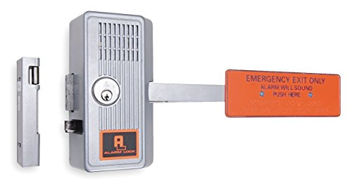 Emergency Exit Door Alarm, 99dB, Chrome by Alarm Lock