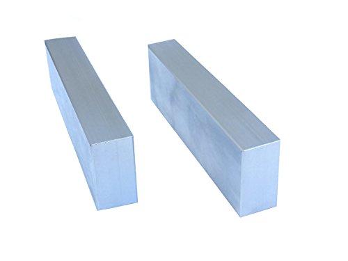 HHIP 3900-2187 Blank Aluminum Vise Jaws, No Holes, 6