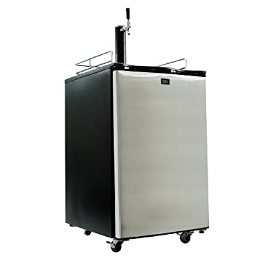 Keggermeister KM2800SS Kegerator Full-Size Single-Tap Beer Refrigerator and Dispenser, Stainless Steel