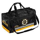 NHL Boston Bruins Striped Core Duffle Bag, Medium, Black