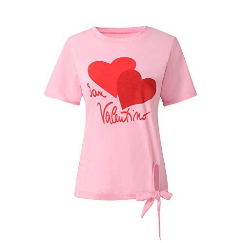 (Eaktool Women's Tunic Tops Loose Blouse Shirts Tunic Tops Loose Blouse Shirts Sexy Slim Fit Stretchy Off Shoulder Pink)