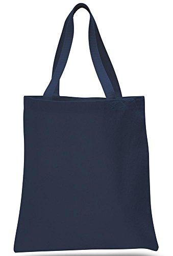 Snoogg Womens lienzo bolsa utilidad bolsa de playa bolsa de la compra ((color gris) TOTEBAG-NAVY-BLUE