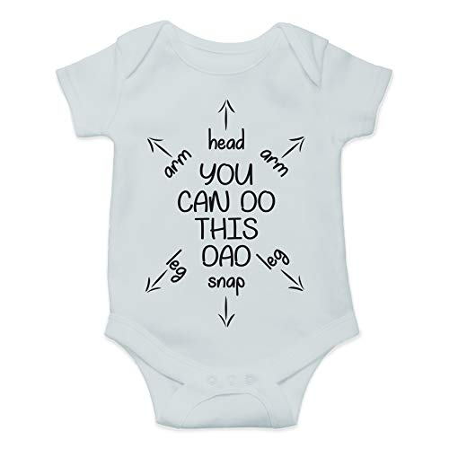 You Can Do This Dad - First Time Dad Gift - Funny Cute Infant Creeper, One-Piece Baby Bodysuit (Sky Blue, 6 Months)