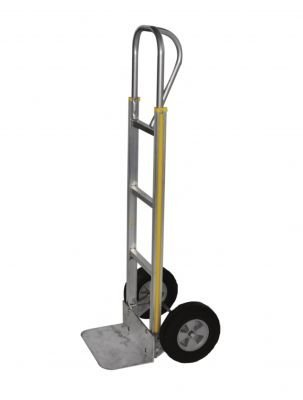 Milwaukee Hand Trucks 45128 Modular Aluminum P-Handle Truck with 10-Inch Pneumatic ()