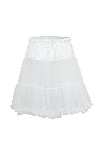 Ludwig und Therese Damen Trachten-Petticoat Betty weiß 1404