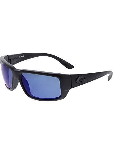 Costa Del Mar Fantail Sunglasses, Blackout, Blue Mirror 580 Plastic Lens