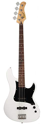 - Cort GB54JJ 4-String Electric Bass, JJ Pickups, Olympic White