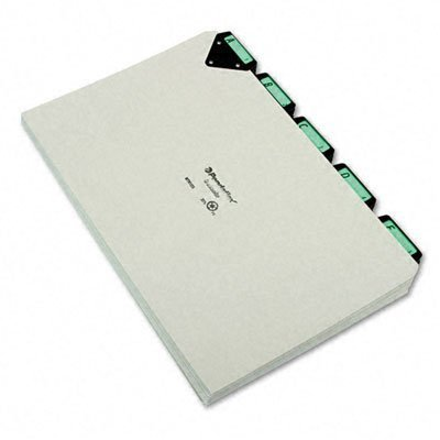 Pendaflex MTN1025 Steel Top Tab A-Z File Guides, 1/5 Tab, Legal Size, Gray, Pressboard, 25 per Set (MTN1025) by Pendaflex