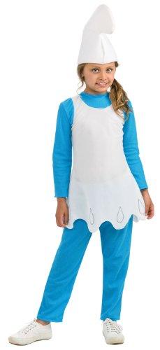 Smurfs Movie Smurfette Costume,Medium 8-10 -