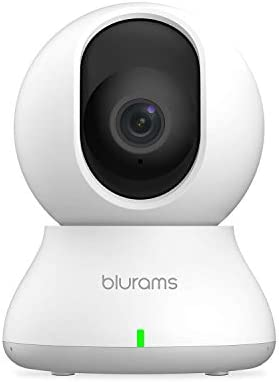 blurams Dome Camera 1080p Wireless Security Camera Pan Tilt Zoom WiFi Camera with Smart Motion Sound Person Detection Two-Way Audio Night Vision Privacy Mode Cloud Local Storage Works with Alexa