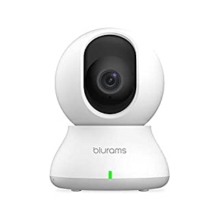 blurams Indoor Security Camera PTZ 1080p, WiFi Dome Camera Pet/Nanny Camera Baby Monitor w/ Two-Way Audio | Sound/Person Detection | IR Night Vision | Cloud&Local Storage | Works with Alexa