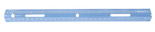 Westcott Plastic Ruler, 12 Inches/30 Centimeters, Blue (16014)