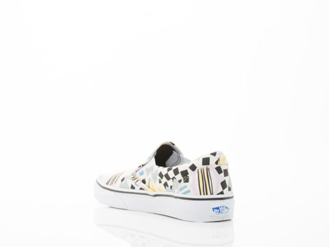 VansU CLASSIC SLIP-ON PERF LEATHER - zapatillas mujer (ELEYKISHIMOTO) COLORE DRUMS/WHITE')