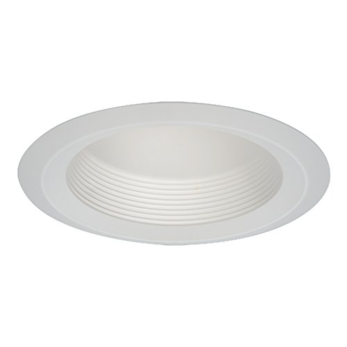 - HALO 6126WB Recessed Self-Flanged White Trim with Full Cone White Baffle, 6