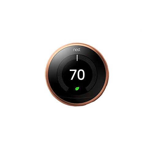 Nest Nest learning thermostat 3rd generation wifi bluetooth smart thermostat copper, 2.4 Ounce