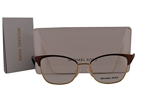 Michael Kors MK3012 Adrianna IV Eyeglasses 49-17-135 Brown Gold w/Demo Clear Lens 1114 MK - Com Thierry Lasry