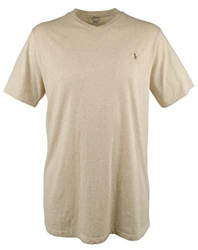 (Polo Ralph Lauren Mens' Big and Tall T-Shirt Jersey V-Neck T-Shirt (Expedition Dune Heather, 3XLT) )