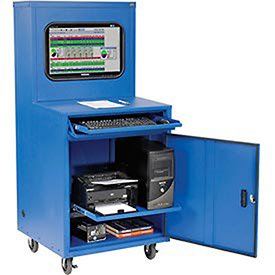 Amazon Com Deluxe Lcd Industrial Computer Cabinet Blue