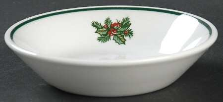 """Victorian Christmas 5 1/8"""" Fruit Bowls by Johnson Brothers"""