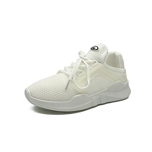 Womens Sneakers Ultra Lightweight Breathable Gym Athletic Running Shoes(White 36/5.5 B(M) US Women) (Driving Brillen)