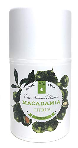 Natural Macadamia and Citrus Face Cream Moisturizer Anti-Aging Inflammation Reducing Lightweight Formula