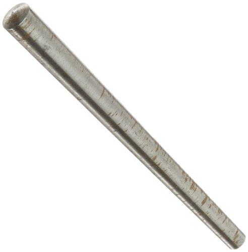 Steel Taper Pin, Plain Finish, Meets ASME B18.8.2, Standard Tolerance, #7 Pin Size, 0.409