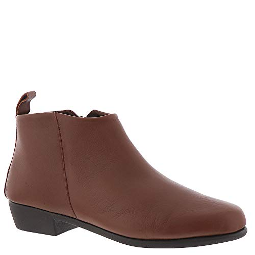 Aerosoles Women's Step IT UP Ankle Boot, Dark tan Leather, 7.5 M US