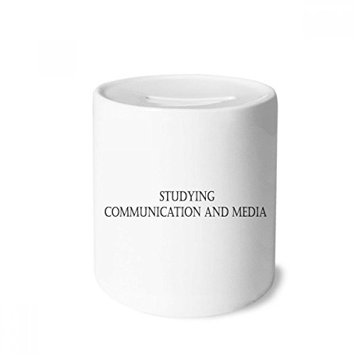 DIYthinker Quote Studying Communication and Media Money Box Saving Banks Ceramic Coin Case Kids Adults