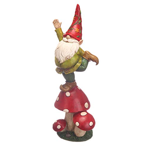 Topadorn Vegetable Garden Gnome Statue Decoration Statuary,Mushroom