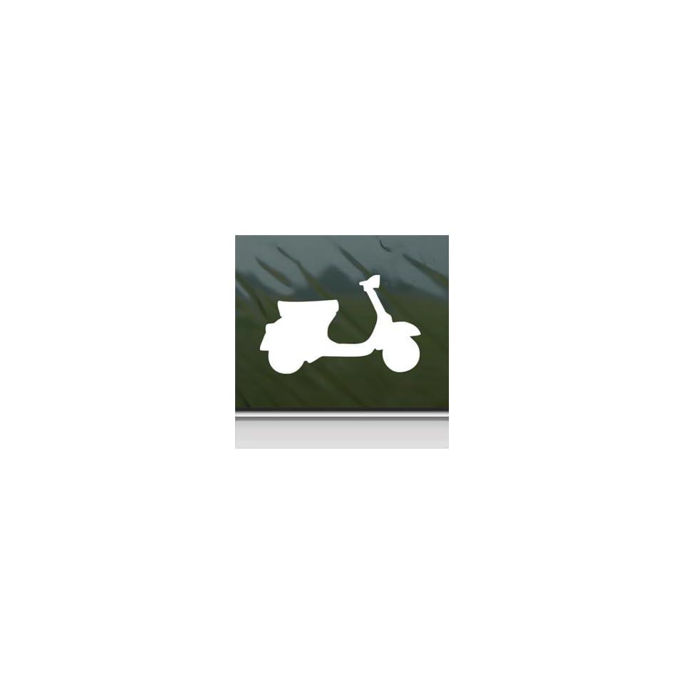 VESPA SCOOTER White Sticker Car Laptop Vinyl Window White Decal