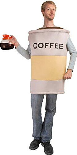 Adult Coffee Costume, Size Adult Standard -