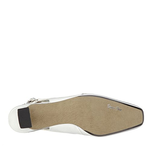 Zapatos De Tacón Medio Increíbles Para Mujer De Easy Street Satén Plateado