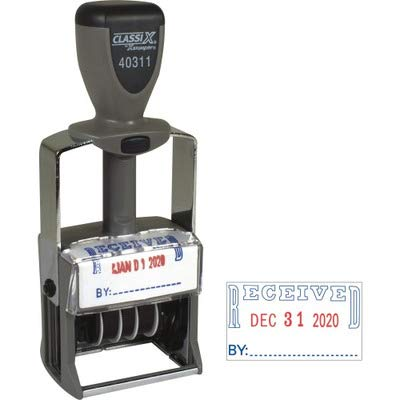 Inked Classix Date Self Stamp - XST40311 - Xstamper Classix Self-Inked Received Message/Date Stamp