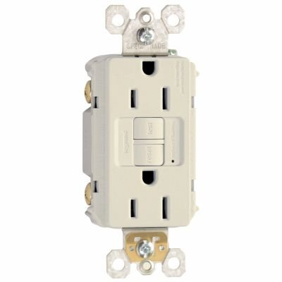 Legrand-Pass & Seymour 1597LACC10 Self-Test GFCI Receptacle Outlet with Wall Plate, 15Amp 125V, Light Almond