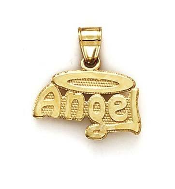 14 Carats Pendentif Ange-Halo-JewelryWeb