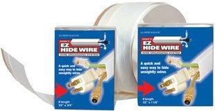 (Small EZ HideWire Cable Raceway -Length: 25FT - Color: White)