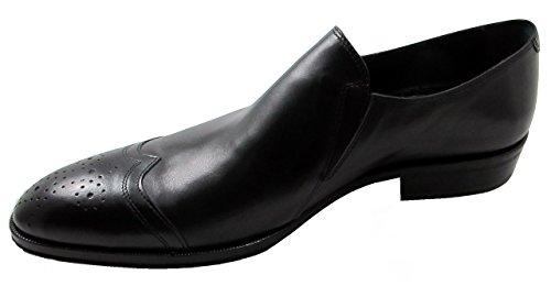 Rode Houten Heren Italiaanse Slip Op Chic Zwarte Schoenen