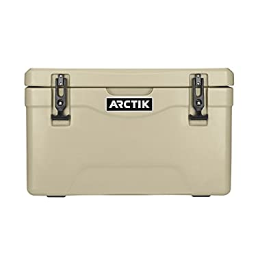 Driftsun Arctik Series 25 Quart Ice Chest / Heavy Duty Cooler / Military-Grade Nylon Rope Handles (Tan)