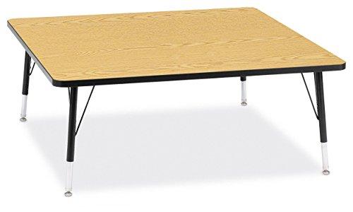 Jonti-Craft Ridgeline Kydz Square Activity Table (11-15 in. H - Oak)