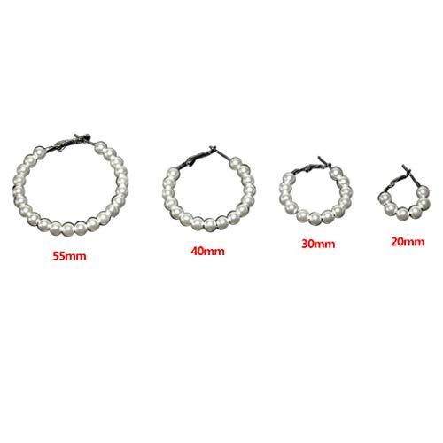 Kofun Women Earrings, 4 Pair/Set Fashion Women Earrings Imitation Pearl Earring Charm Lady Ear Decorative Jewelry Gifts