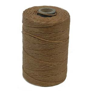 Waxed Irish Linen Crawford Cord 3 Ply 10 Yards BUTTERSCOTCH