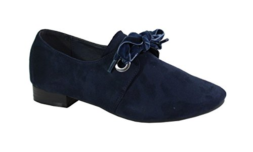 By Shoes Stringate Donna Scarpe Blue Basse SzrSq