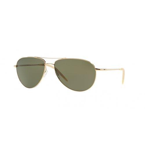 Oliver Peoples Men OV1002S 62 BENEDICT Gold/Green Sunglasses - Oliver Peoples Benedict
