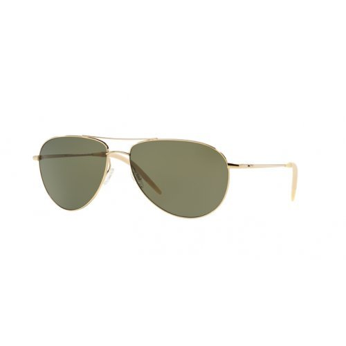 Oliver Peoples Men OV1002S 62 BENEDICT Gold/Green Sunglasses - Polarized Oliver Benedict Peoples
