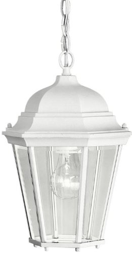 Kichler 9805WH Madison Outdoor Pendant 1-Light, White